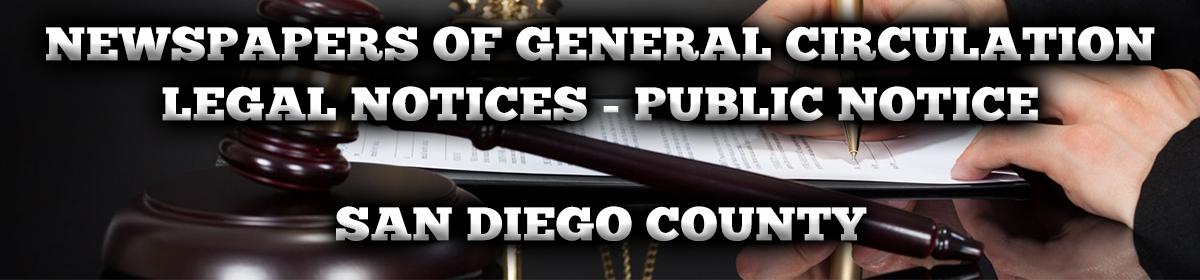 San Diego County Public Notices